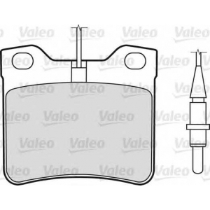 VALEO 598295 Комплект тормозных колодок, дисковый тормоз