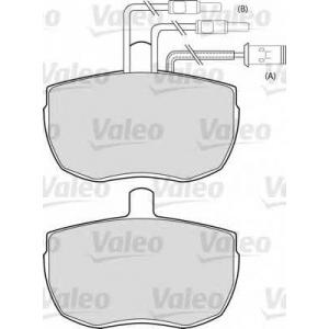 VALEO 598380 Комплект тормозных колодок, дисковый тормоз