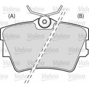 VALEO 598546 Комплект тормозных колодок, дисковый тормоз