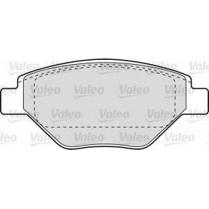 VALEO 598557 Комплект тормозных колодок, дисковый тормоз