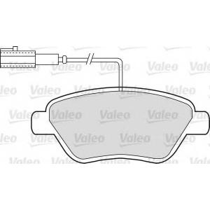 VALEO 598913 Комплект тормозных колодок, дисковый тормоз