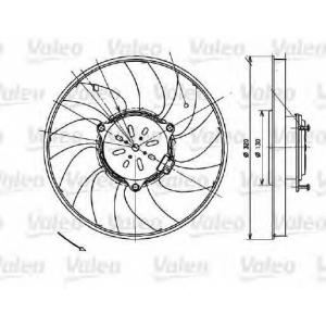 VALEO 696082 Вентилятор охлаждения радиатора