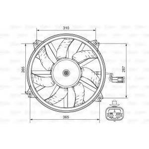 696850 valeo Вентилятор, охлаждение двигателя LANCIA PHEDRA (179) вэн 2.0 (179AXA11)