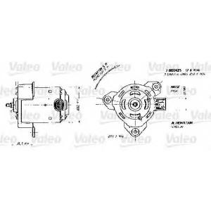 Электродвигатель, вентилятор радиатора 698356 valeo -