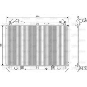 VALEO 701592 Радиатор системы охлаждения
