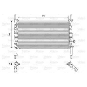 701606 valeo Радиатор, охлаждение двигателя FORD TRANSIT автобус 2.2 TDCi