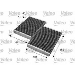 Фильтр, воздух во внутренном пространстве 715643 valeo - MERCEDES-BENZ S-CLASS (W221) седан S 350 (221.056, 221.156)