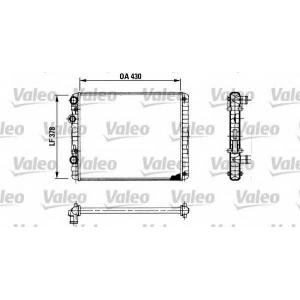 VALEO 730956 Радіатор охолоджування