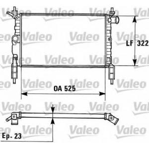 VALEO 730975 Радиатор, охлаждение двигател