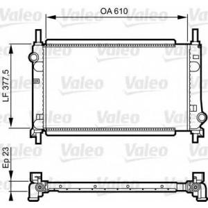 VALEO 731550 Радиатор, охлаждение двигател