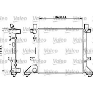 VALEO 731605 Радиатор LT 2.5/2,8 TDI 96>