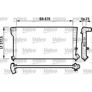 VALEO 731744 Радиатор, охлаждение двигател