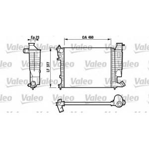 VALEO 732534 Радиатор, охлаждение двигател
