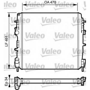 Радиатор, охлаждение двигател 732687 valeo - RENAULT KANGOO (KC0/1_) вэн 1.5 dCi (KC07)