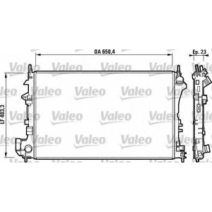 Радиатор, охлаждение двигател 732879 valeo - OPEL VECTRA C седан 1.8 16V