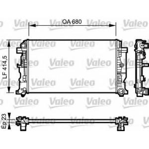VALEO 734927 Радиатор системы охлаждения