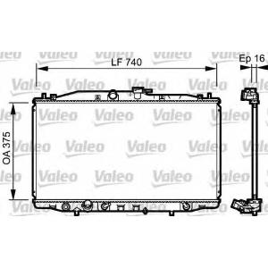 VALEO 735050 Радиатор системы охлаждения
