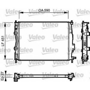 Радиатор, охлаждение двигател 735116 valeo - NISSAN QASHQAI / QASHQAI +2 (J10, JJ10) вездеход закрытый 2.0