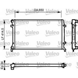 VALEO 735121 Радиатор, охлаждение двигател
