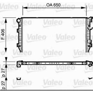 VALEO 735133 Радиатор системы охлаждения