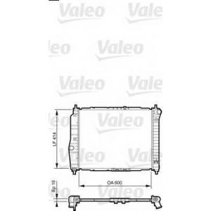 VALEO 735158 Радиатор, охлаждение двигател