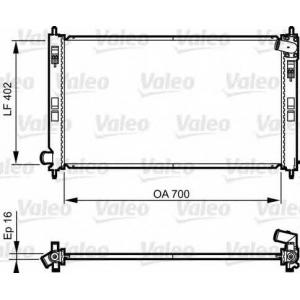 VALEO 735575 Радиатор системы охлаждения