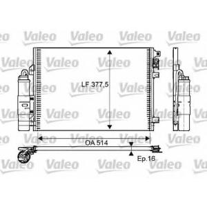 VALEO 814051 Радиатор кондиционера