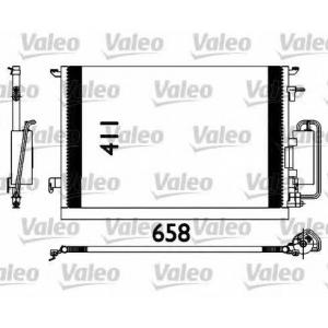 VALEO 817647 Конденсатор кондиционера OPEL (пр-во VALEO)