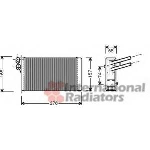 VAN WEZEL 03006097 Радиатор отопителя AUDI80/90/A4 / VW PASSAT5 (Van Wezel)