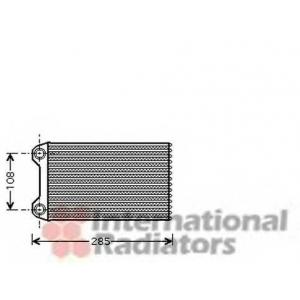 VAN WEZEL 03006223 Радиатор отопителя HEAT AUDI A4 ALL 00- LHD (Van Wezel)