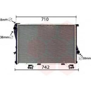 VAN WEZEL 06002233 Радиатор BMW5(E39)/7(E38)MT 98- (Van Wezel)