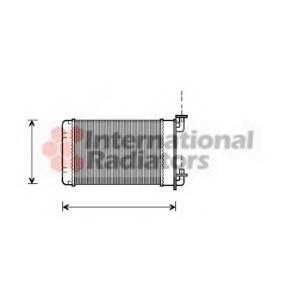 VAN WEZEL 06006022 Радиатор отопителя BMW E30/Z1 88- 316->325 (Van Wezel)