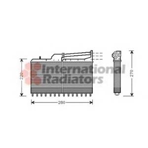 VAN WEZEL 06006029 Радиатор отопителя HEATER BMW518-535 E34 87- (Van Wezel)