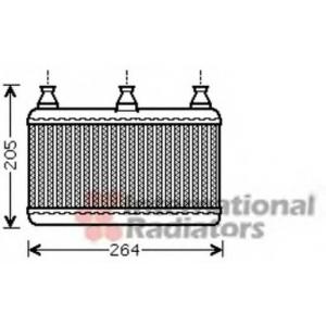 VAN WEZEL 06006341 Heater radiator
