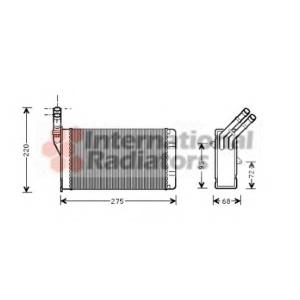 VAN WEZEL 09006055 Радиатор отопителя CITR ZX/XANTIA / PEUG 306 (Van Wezel)