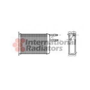 VAN WEZEL 09006128 Радиатор отопителя JUMPER/DUCATO/BOXER MT (Van Wezel)