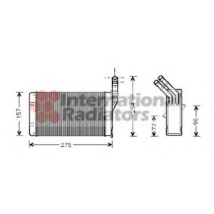 VAN WEZEL 09006150 Heater radiator