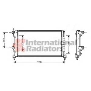 VAN WEZEL 17002250 Радиатор DOBLO 19TD MT +AC 01- (Van Wezel)