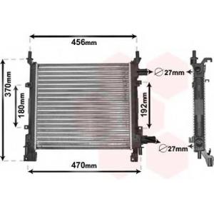 VAN WEZEL 18002260 Радиатор, охлаждение двигателя