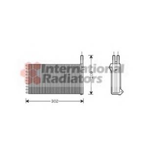 VAN WEZEL 18006154 Радиатор печки