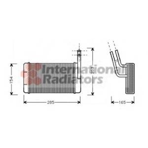 VAN WEZEL 18006163 Heater radiator