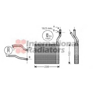 VAN WEZEL 18006364 Радиатор печки