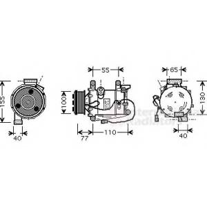 VAN WEZEL 2500K208 AC compressor