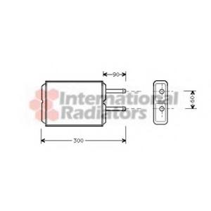 VAN WEZEL 27006124 Heater radiator