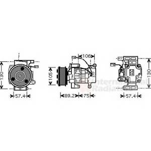 VAN WEZEL 2700K208 AC compressor