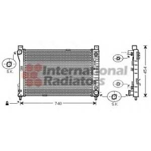 VAN WEZEL 30002286 Радиатор W203(C) MT/AT +/-AC 00-02 (Van Wezel)