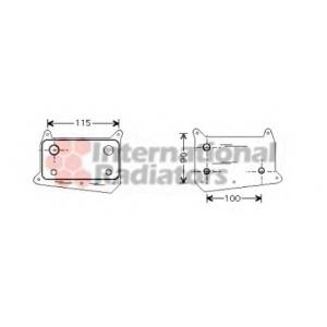 VAN WEZEL 30003318 Oil radiator
