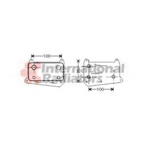 VAN WEZEL 30003376 Радиатор масляный MB DIESEL ML/VITO/C/VIANO(пр-во Van Wezel)