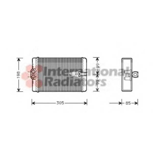 VAN WEZEL 30006250 Радиатор отопителя W 202  H / A 03/97- (Van Wezel)