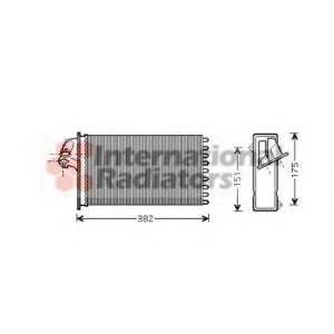 VAN WEZEL 30006355 Heater radiator